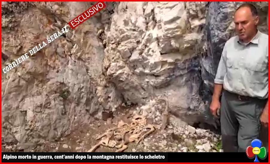 scheletro alpino prima guerra al costabella fassa