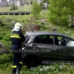 vigili del fuoco, recupero auto passo fedaia6
