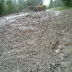 Vigo di Fassa, colata di fango sulla ciclabile