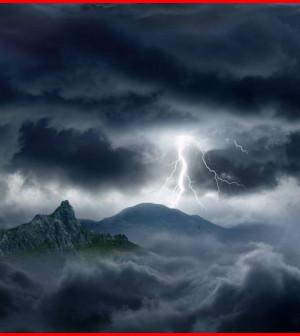 fulmine montagna