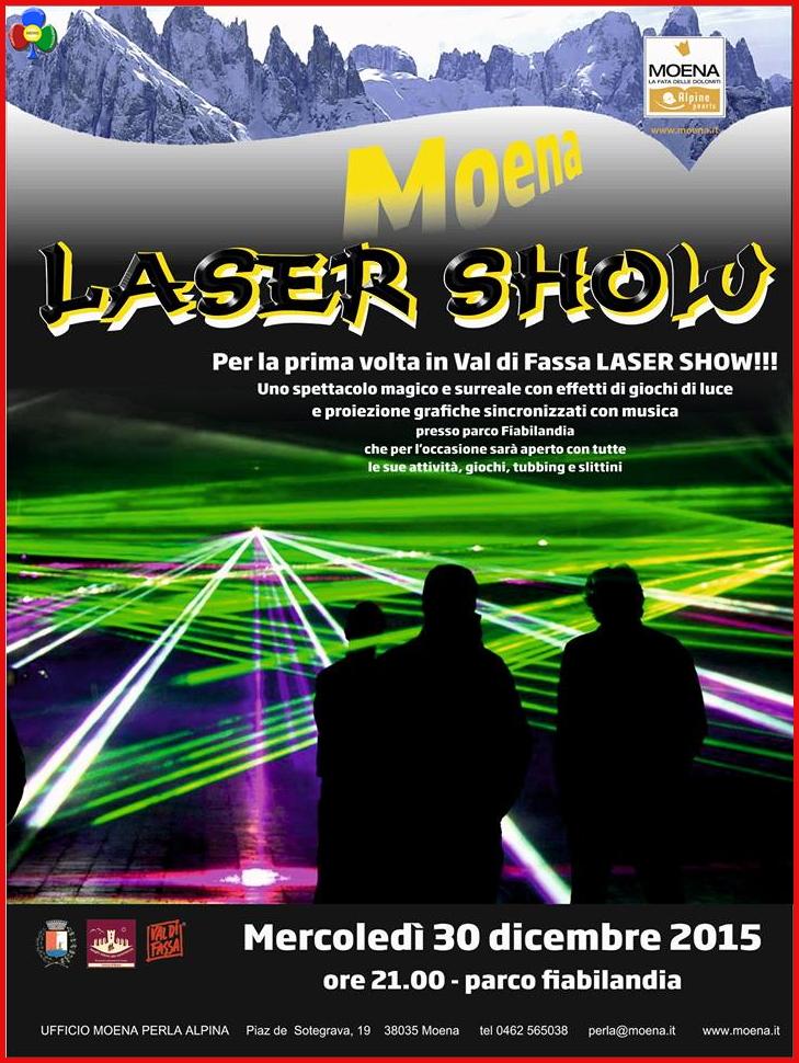 laser show moena fassa