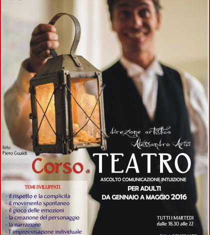 Locandina perCorso Teatro adulti Vigo di Fassa 2016