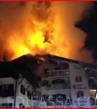 incendio a moena hotel dolomiti 19.1.2016 valledifassacom