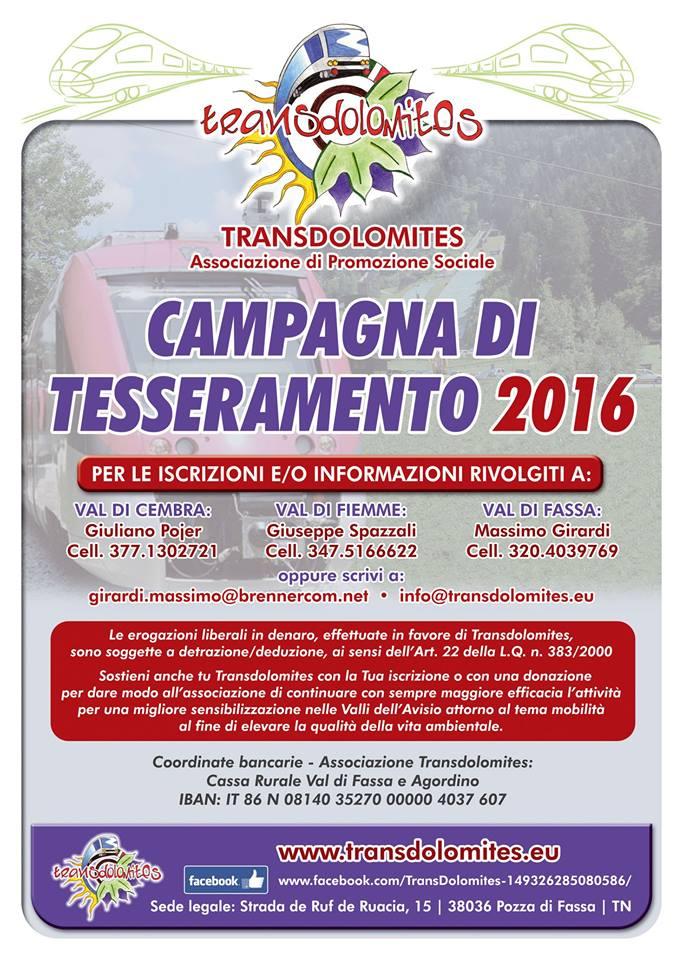 transdolomites tesseramento 2016