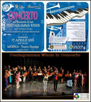 pentagramma winds concerto aprile 2016 moena