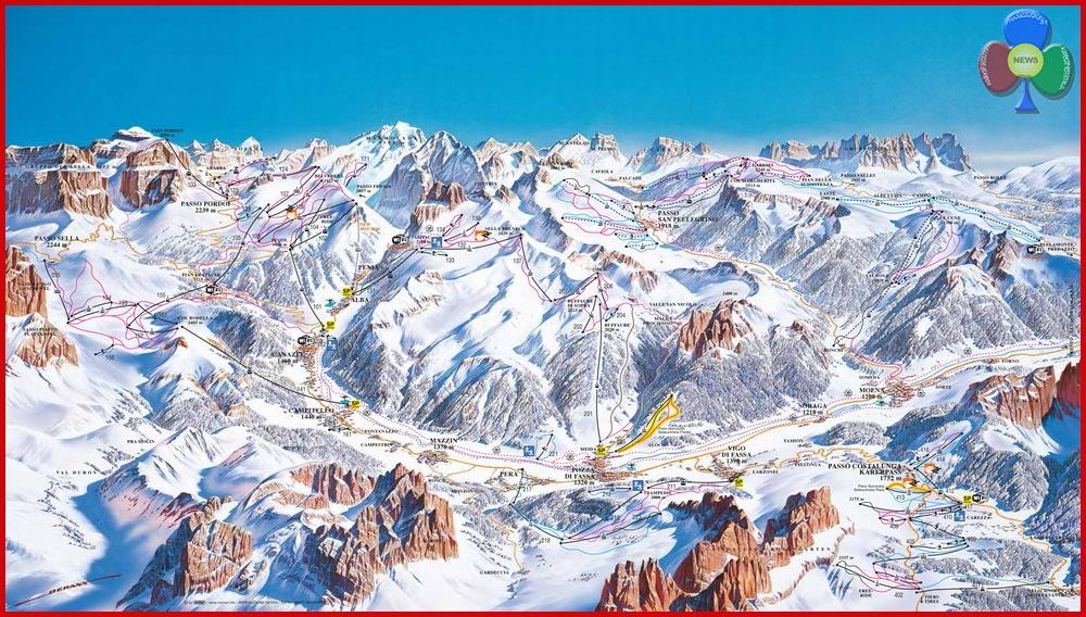 ski map val di fassa
