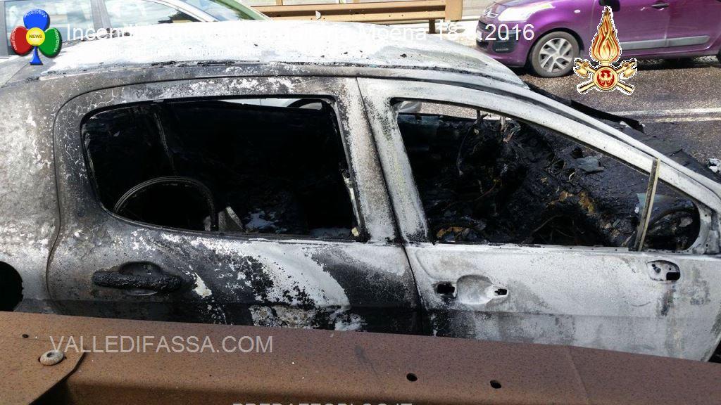 incendio autovettura galleria moena 18.8.2016 vvf moena2