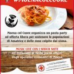 Moena col Cuore, Pasta party in piazza per Amatriciana