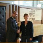 Detomas riceve la deputata ungherese Hoffmann