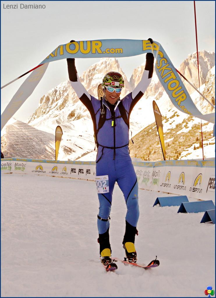 epic ski tour arrivo pordoi lenzi damiano