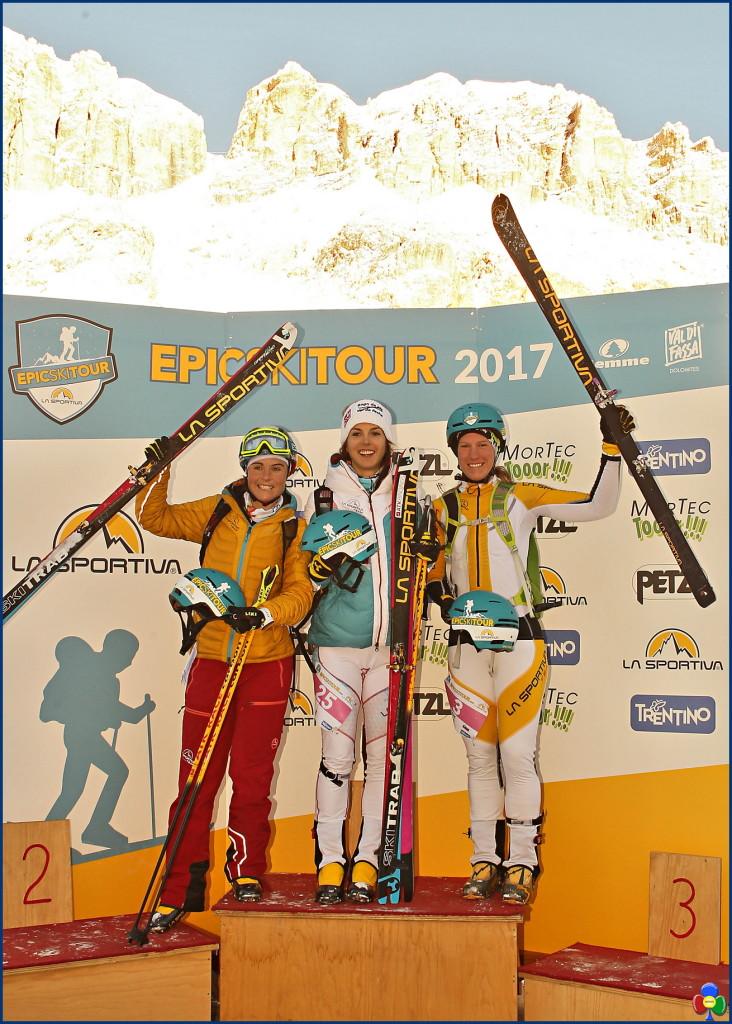 epic ski tour pordoi podio femminile