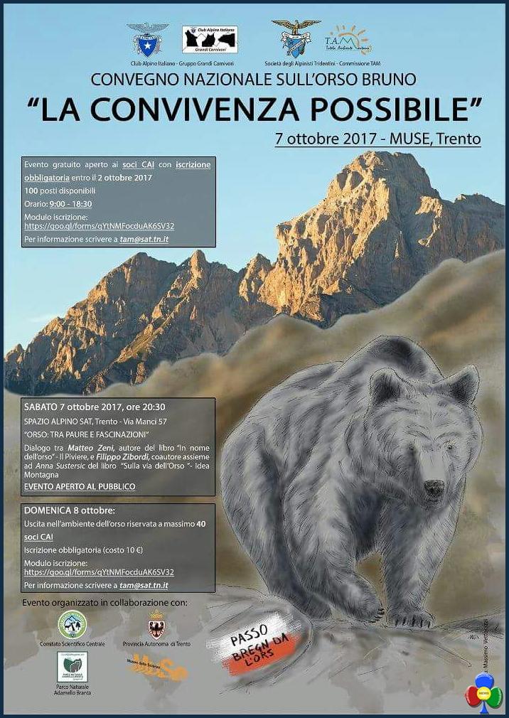 convegno orso cai sat trento 2017