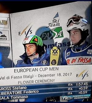 podio fassano europei sci alpino pozza di fassa 2017a