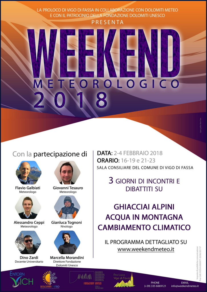 weekend meteorologico fassa 2018