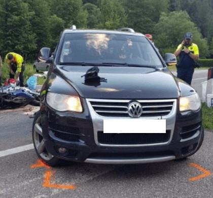 incidente moto foresta moena