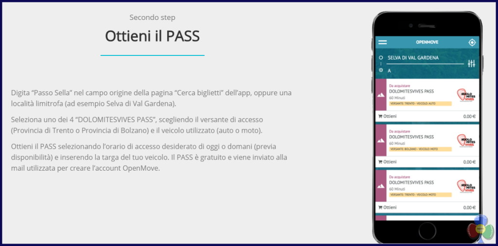 open move passo sella app 2018 step2